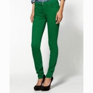 7 FOR ALL MANKIND The Skinny Kelly Green Jeans 27